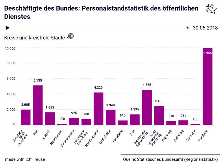 Beschäftigte des Bundes: Personalstandstatistik des öffentlichen Dienstes