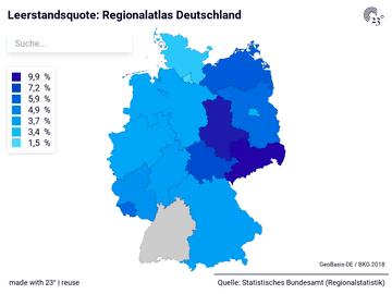 Leerstandsquote: Regionalatlas Deutschland