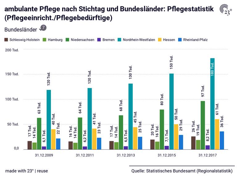 ambulante Pflege nach Stichtag und Bundesländer: Pflegestatistik (Pflegeeinricht./Pflegebedürftige)