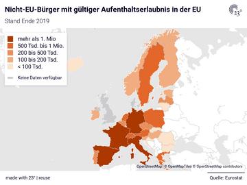 Nicht-EU-Bürger mit gültiger Aufenthaltserlaubnis in der EU