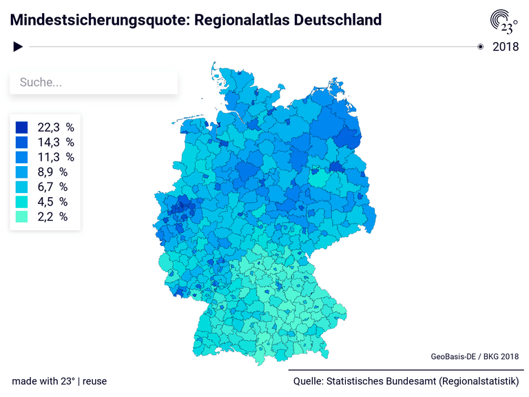 Mindestsicherungsquote: Regionalatlas Deutschland