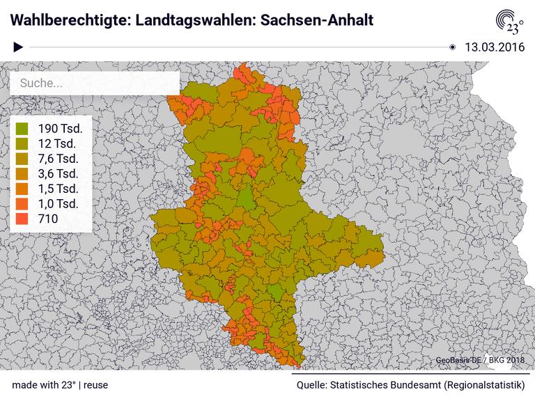 Wahlberechtigte: Landtagswahlen: Sachsen-Anhalt