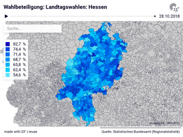 Wahlbeteiligung: Landtagswahlen: Hessen