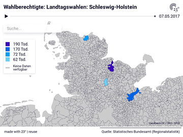 Wahlberechtigte: Landtagswahlen: Schleswig-Holstein