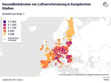 Gesundheitskosten von Luftverschmutzung in Europäischen Städten
