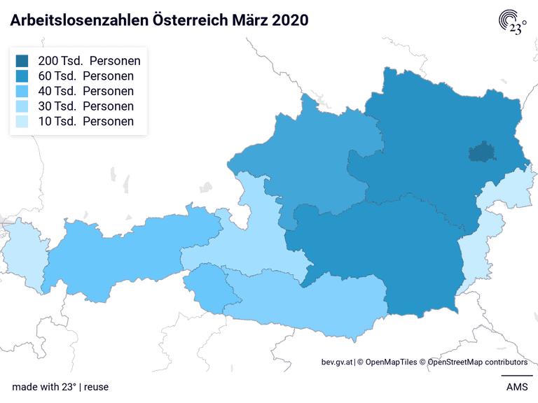 Arbeitslosenzahlen Österreich März 2020