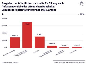 Ausgaben der öffentlichen Haushalte für Bildung nach Aufgabenbereiche der öffentlichen Haushalte: Bildungsberichterstattung für nationale Zwecke