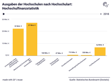 Ausgaben der Hochschulen nach Hochschulart: Hochschulfinanzstatistik