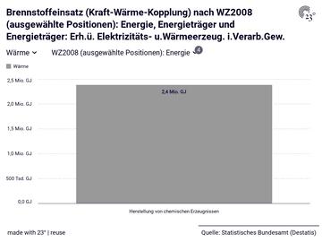 Brennstoffeinsatz (Kraft-Wärme-Kopplung) nach WZ2008 (ausgewählte Positionen): Energie, Energieträger und Energieträger: Erh.ü. Elektrizitäts- u.Wärmeerzeug. i.Verarb.Gew.