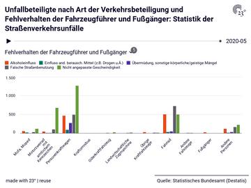 Unfallbeteiligte nach Art der Verkehrsbeteiligung und Fehlverhalten der Fahrzeugführer und Fußgänger: Statistik der Straßenverkehrsunfälle