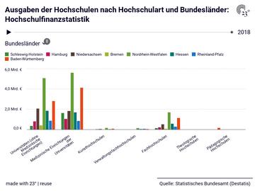 Ausgaben der Hochschulen nach Hochschulart und Bundesländer: Hochschulfinanzstatistik