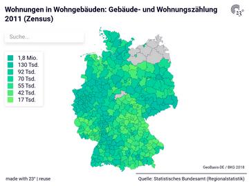 Wohnungen in Wohngebäuden: Gebäude- und Wohnungszählung 2011 (Zensus)