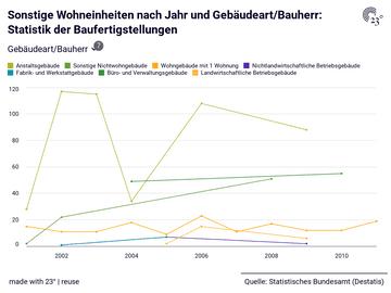 Sonstige Wohneinheiten nach Jahr und Gebäudeart/Bauherr: Statistik der Baufertigstellungen