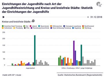 Einrichtungen der Jugendhilfe nach Art der Jugendhilfeeinrichtung und Kreise und kreisfreie Städte: Statistik der Einrichtungen der Jugendhilfe