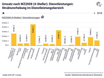 Umsatz nach WZ2008 (4-Steller): Dienstleistungen: Strukturerhebung im Dienstleistungsbereich