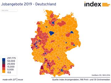Jobangebote 2019 - Deutschland