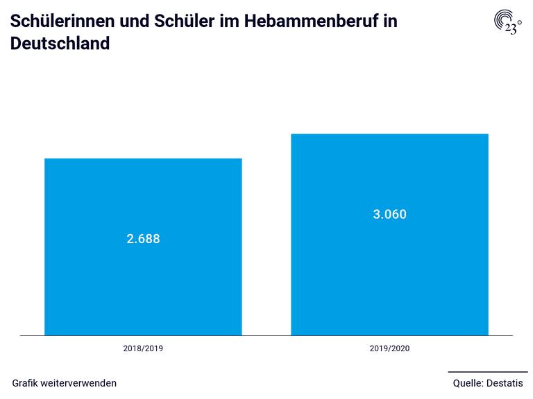 Schülerinnen und Schüler im Hebammenberuf in Deutschland