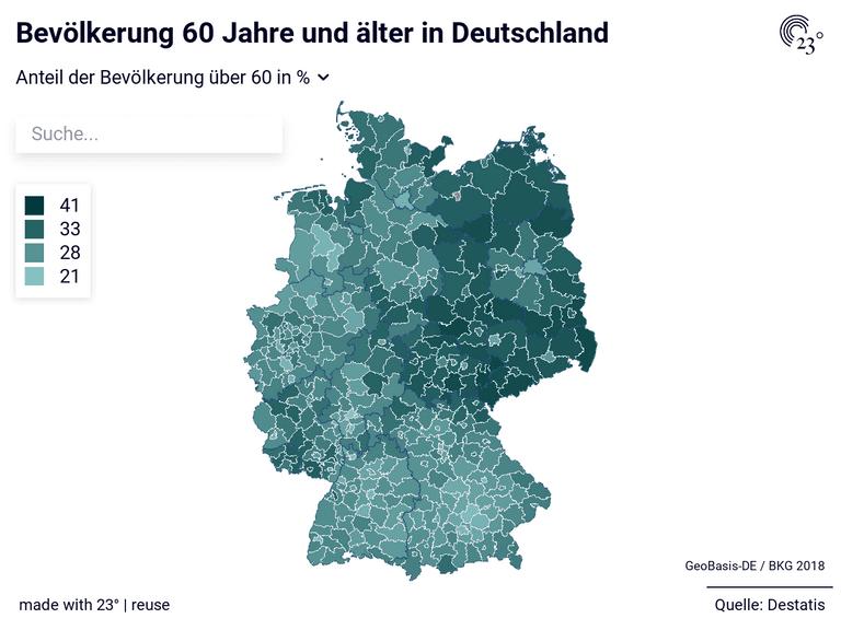 Bevölkerung 60 Jahre und älter in Deutschland