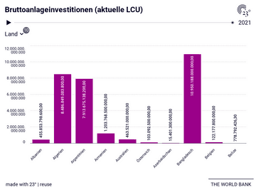 Bruttoanlageinvestitionen (aktuelle LCU)