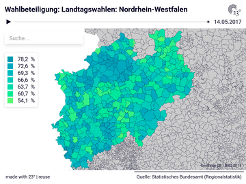 Wahlbeteiligung: Landtagswahlen: Nordrhein-Westfalen