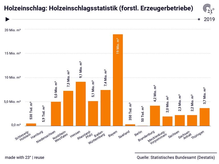 Holzeinschlag: Holzeinschlagsstatistik (forstl. Erzeugerbetriebe)