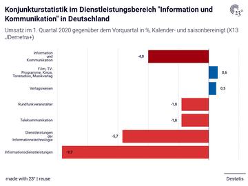 """Konjunkturstatistik im Dienstleistungsbereich """"Information und Kommunikation"""" in Deutschland"""