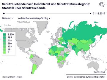 Schutzsuchende nach Geschlecht und Schutzstatuskategorie: Statistik über Schutzsuchende