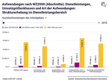 Aufwendungen nach WZ2008 (Abschnitte): Dienstleistungen, Umsatzgrößenklassen und Art der Aufwendungen: Strukturerhebung im Dienstleistungsbereich