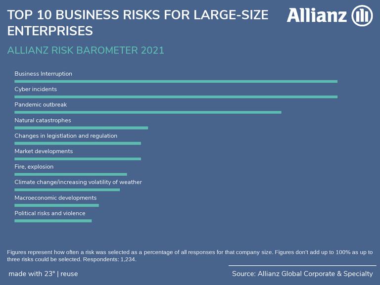 TOP 10 BUSINESS RISKS FOR LARGE-SIZE ENTERPRISES