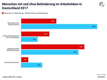 Menschen mit und ohne Behinderung im Arbeitsleben in Deutschland 2017