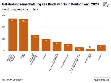Gefährdungseinschätzung des Kindeswohls in Deutschland, 2020