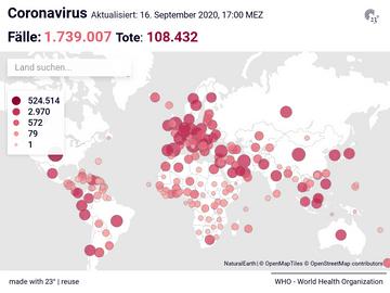 Coronavirus Live Karte