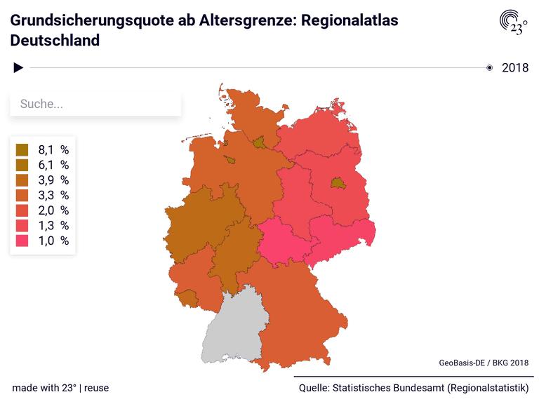Grundsicherungsquote ab Altersgrenze: Regionalatlas Deutschland