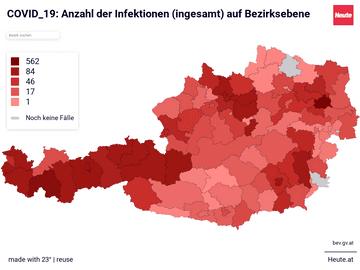 COVID_19: Daten auf Bezirksebene Österreich