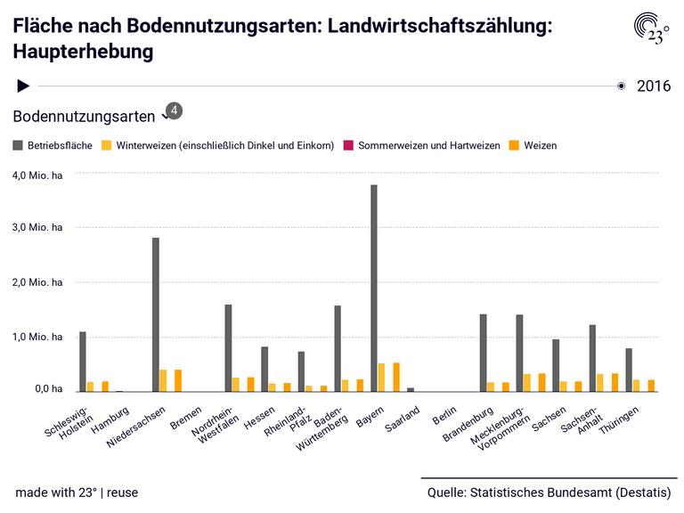Fläche nach Bodennutzungsarten: Landwirtschaftszählung: Haupterhebung