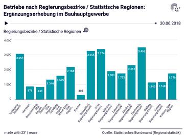 Betriebe nach Regierungsbezirke / Statistische Regionen: Ergänzungserhebung im Bauhauptgewerbe