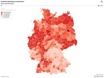 Anzahl der Arbeitslosen in Deutschland