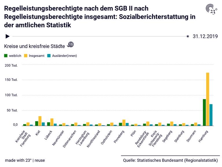 Regelleistungsberechtigte nach dem SGB II nach Regelleistungsberechtigte insgesamt: Sozialberichterstattung in der amtlichen Statistik
