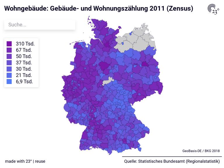 Wohngebäude: Gebäude- und Wohnungszählung 2011 (Zensus)