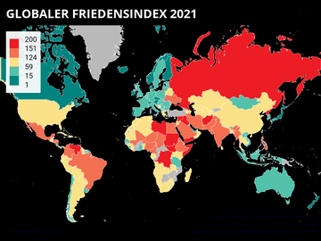 GLOBALER FRIEDENSINDEX 2021