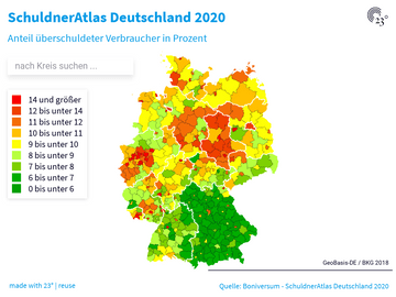 SchuldnerAtlas Deutschland 2020