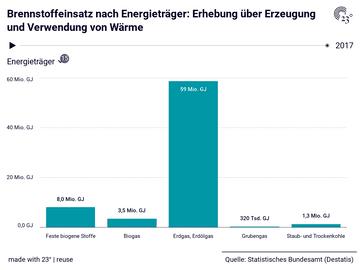 Brennstoffeinsatz nach Energieträger: Erhebung über Erzeugung und Verwendung von Wärme