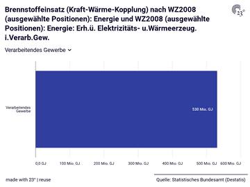 Brennstoffeinsatz (Kraft-Wärme-Kopplung) nach WZ2008 (ausgewählte Positionen): Energie und WZ2008 (ausgewählte Positionen): Energie: Erh.ü. Elektrizitäts- u.Wärmeerzeug. i.Verarb.Gew.