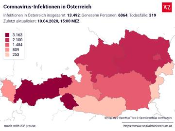 Coronavirus-Infektionen in Österreich